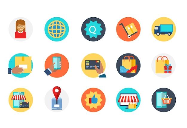 Icône de commerce électronique