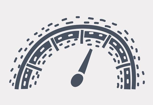 Icône de compteur de vitesse
