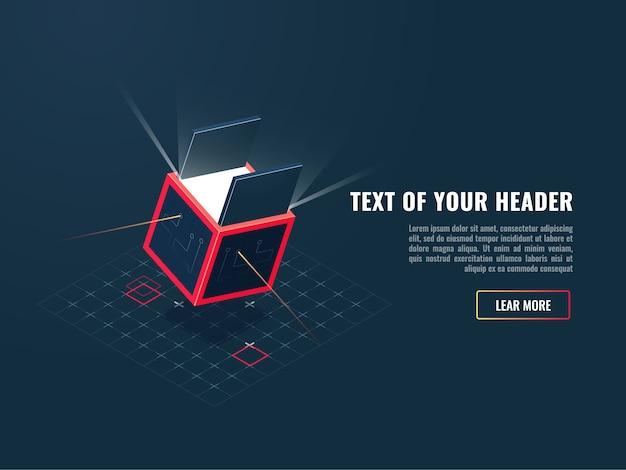 Icône de concept d'achat de produits numériques, ajout de jeux, bloc de stockage de données