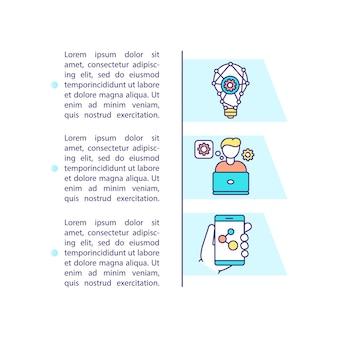 Icône de concept d'application mobile de construction avec texte