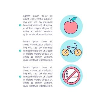 Icône de concept de prévention des maladies avec illustration de texte