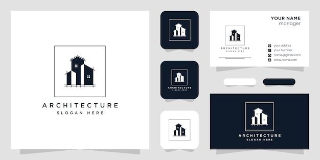 Icône de conception de logo architecte de construction