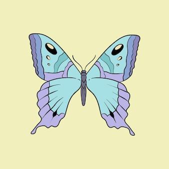 Icône de conception de tatouage flash old school vintage papillon