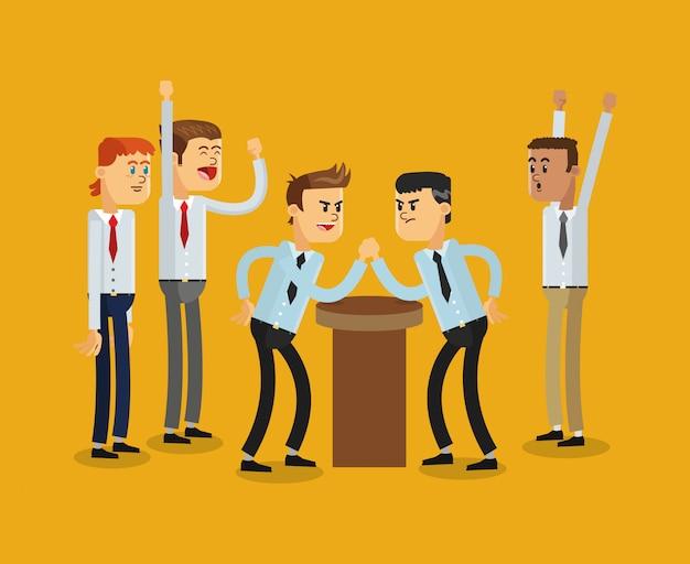 Icône de la concurrence hommes d'affaires