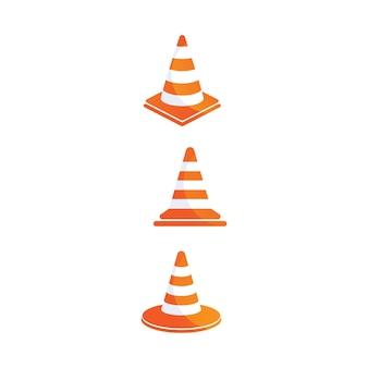 Icône de cône de construction, conception d'illustration vectorielle. collection d'outils. sur fond blanc