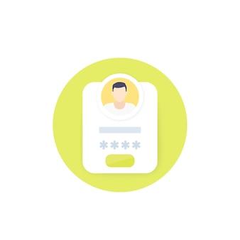 Icône de connexion et d'authentification