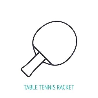 Icône de contour de raquette de tennis de table illustration vectorielle équipement de sport illustration vectorielle