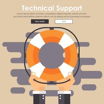 Icône de contour de support technique