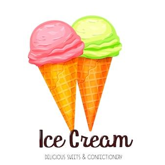 Icône de cornet de crème glacée