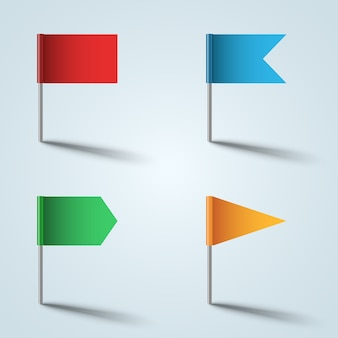 Icône de couleur de drapeau sur le fond gris