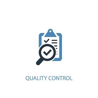 Icône de couleur du concept 2 de contrôle de la qualité. illustration de l'élément bleu simple. conception de symbole de concept de contrôle de qualité. peut être utilisé pour l'interface utilisateur/ux web et mobile