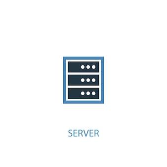 Icône de couleur serveur concept 2. illustration de l'élément bleu simple. conception de symbole de concept de serveur. peut être utilisé pour l'interface utilisateur/ux web et mobile