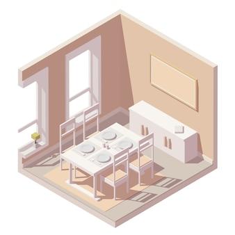 Icône en coupe de la salle à manger