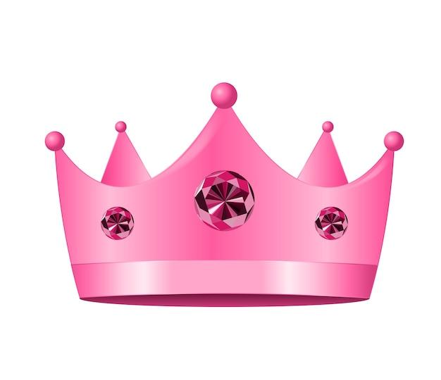 Icône de la couronne de princesse. illustration.