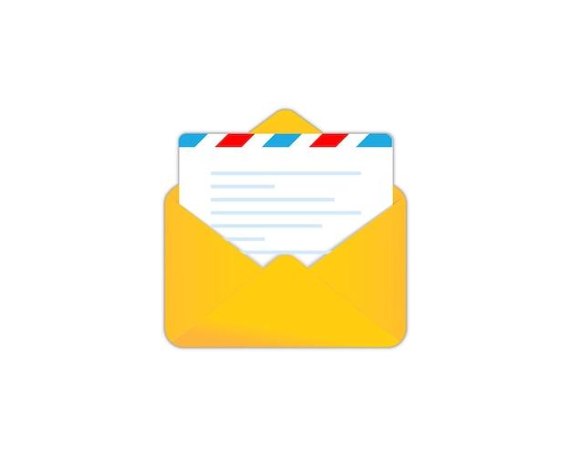 Icône de courrier électronique. enveloppe. services de courrier. message, icône de lettre