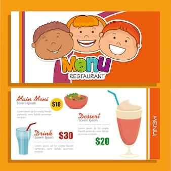 Icône de couverture de menu restaurant
