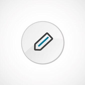 Icône crayon 2 de couleur, gris et bleu, badge cercle