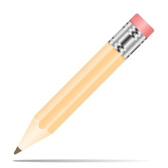 Icône de crayon au design plat
