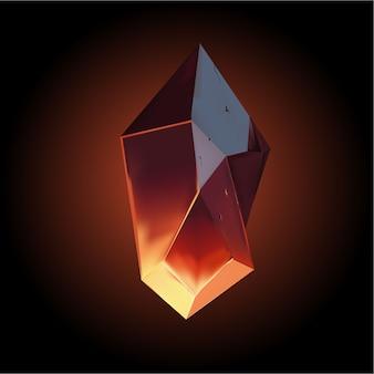 Icône de cristal de vecteur