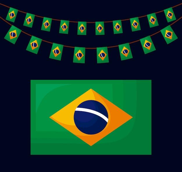 Icône de la culture du drapeau brésilien