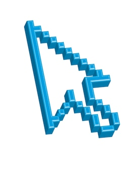Icône de curseur sur fond blanc, illustration vectorielle