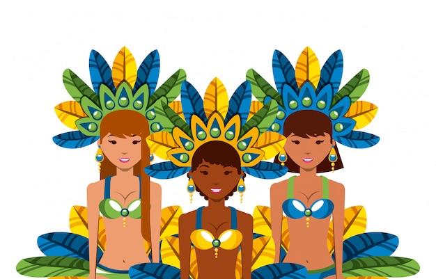 Icône de la danseuse brésilienne