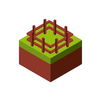 Icône de clôture en bois