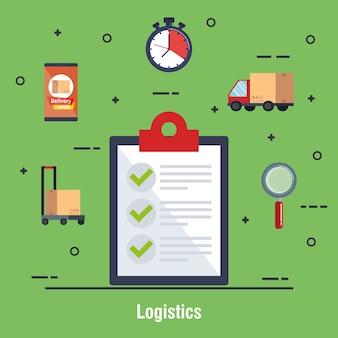 Icône de service de livraison de liste de contrôle