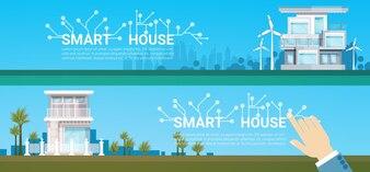 Icône de système de contrôle de technologie Smart House Icône infographique