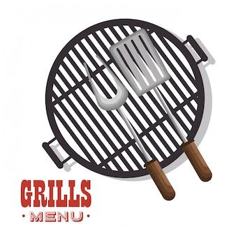 Icône de délicieux plats de barbecue