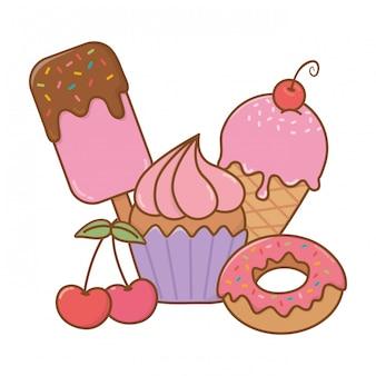 Icône de desserts sucrés