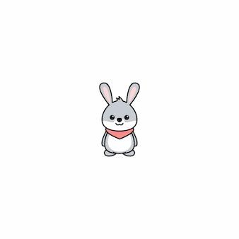 Icône de dessin animé mignon lapin