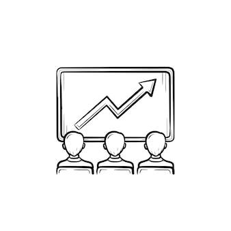 Icône dessinée à la main de vecteur de croissance des affaires concept d'illustration de croquis en croissance pour l'impression, le web, le mobile et l'infographie isolés sur fond blanc.
