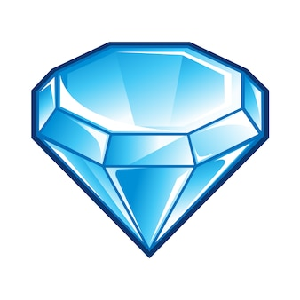 Icône de diamant bleu