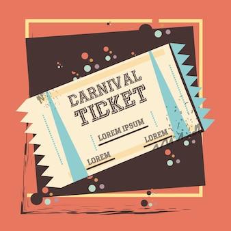 Icône de divertissement de billet de carnaval