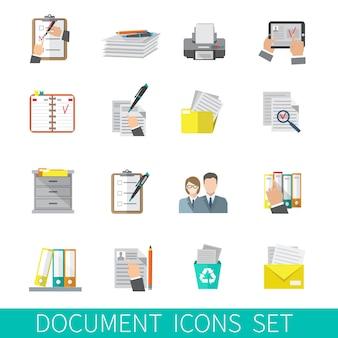 Icône de document plat