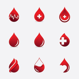Icône de donneurs de sang, illustration vectorielle de sang logo