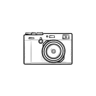 Icône de doodle contour dessiné main caméra simple