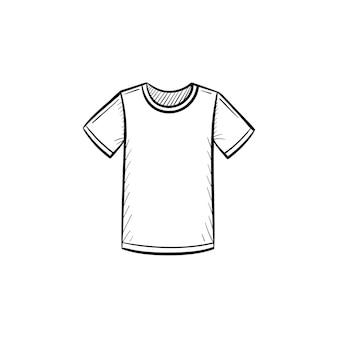 Icône de doodle de contour de t-shirt dessiné à la main de vecteur. illustration de croquis de t-shirt pour impression, web, mobile et infographie isolé sur fond blanc.