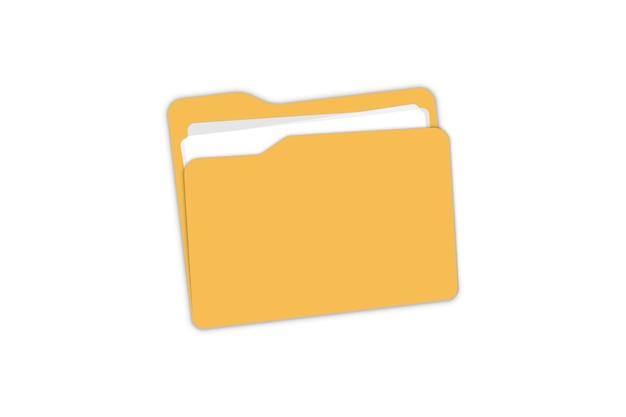 Icône de dossier. ouvrir le dossier avec les documents pour la conception, l'application, le logo, l'interface utilisateur de votre site web