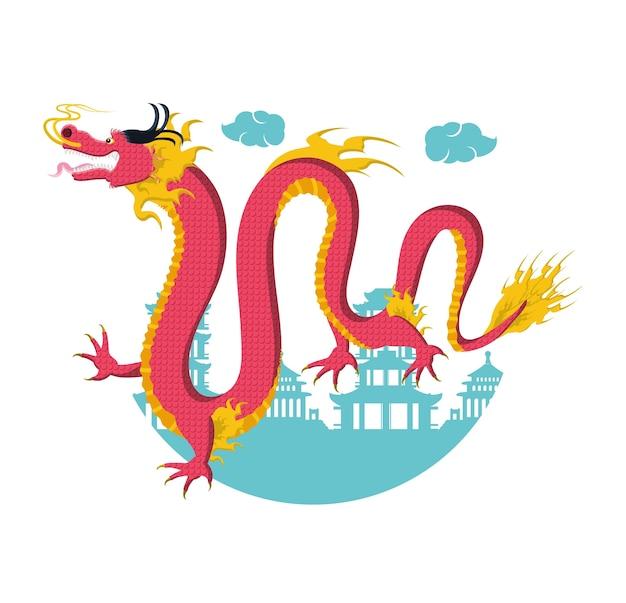 Icône de dragon de culture chinoise