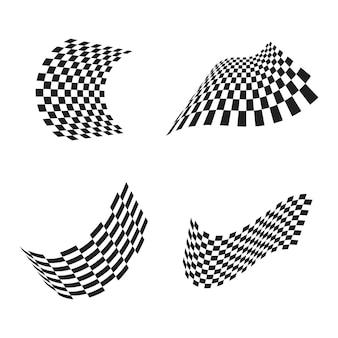 Icône de drapeau de course, vecteur d'illustration de conception simple