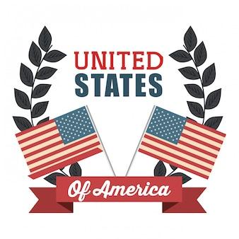 Icône de drapeau des états-unis d'amérique