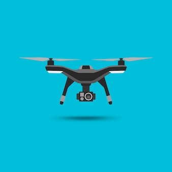 Icône de drone. copter ou quadcopter avec un design moderne de caméra.