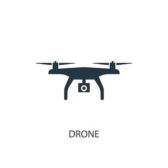 Icône de drone. illustration d'élément simple. conception de symbole de concept de drone. peut être utilisé pour le web et le mobile.
