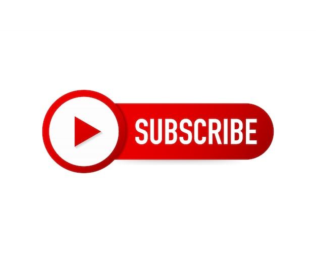 Icône du bouton s'abonner. pictogramme de concept commercial abonnez-vous.
