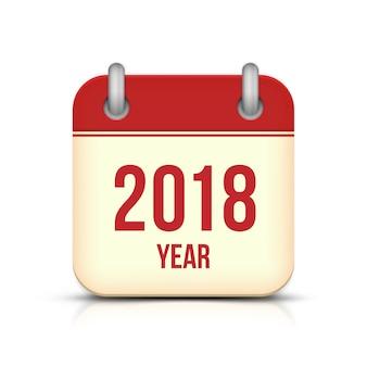 Icône du calendrier du nouvel an 2018