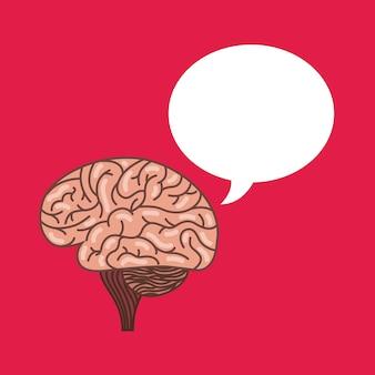 Icône du cerveau humain