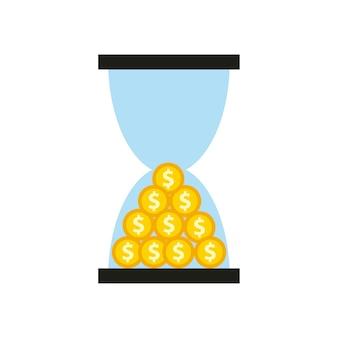 Icône du concept temps est argent