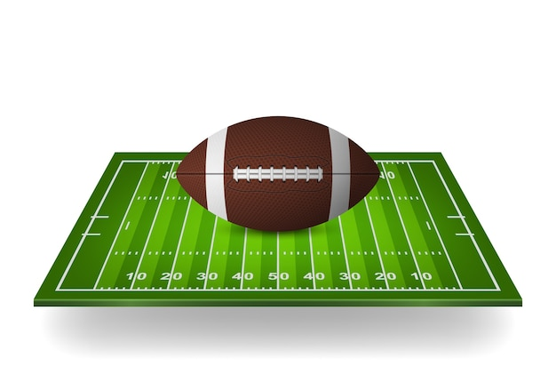 Icône du football sur le terrain.